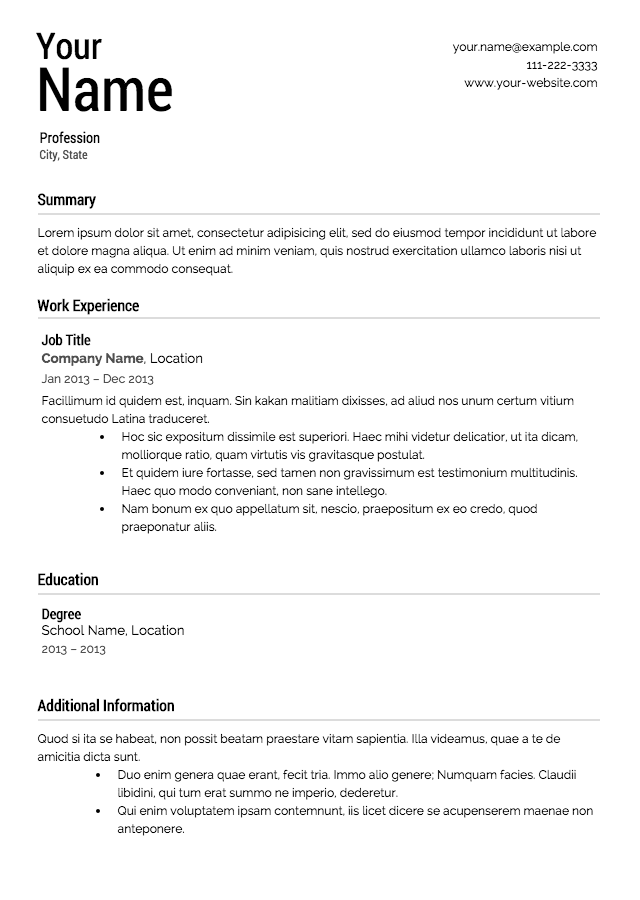 American Format Resume Sample. Breakupus Terrific Senior Sales