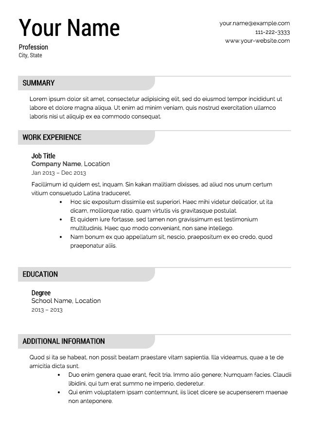 Printable Resume Examples. Free Resume Examples For Jobs Resume
