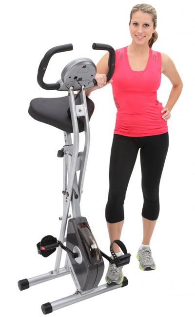 Exerpeutic Folding Magnetic Upright Bike With Pulse Reviews