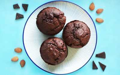 Recette muffin chocolat amandes sans gluten sans lactose