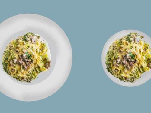 assiette illusion optique rééquilibrage alimentaire perte de poids régime naturopathie superbanane