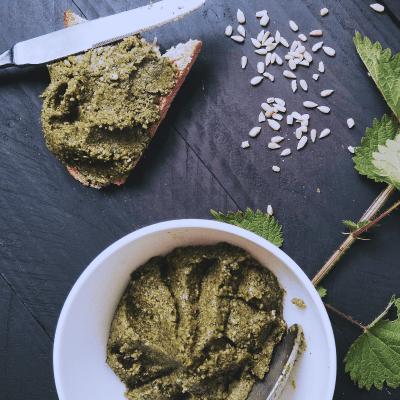 Ortie recette pesto smoothie jus extracteur vitamines mineraux cuisine crue cruisine naturopathie naturopathe
