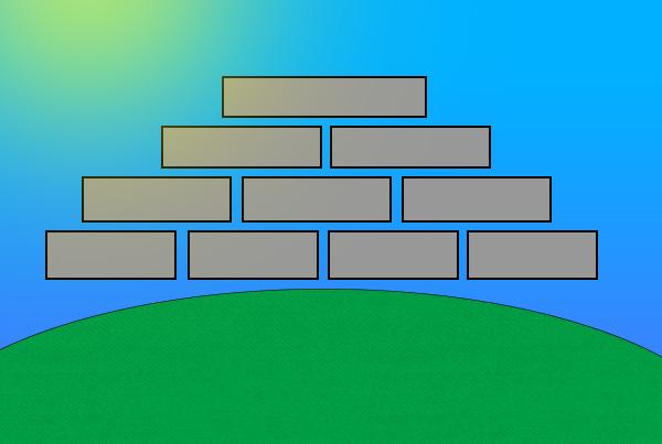 Illustration of Maya pyramid