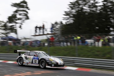 Georg Weiss / Oliver Kainz / Michael Jacobs / Jochen Krumbach (Wochenspiegel Team Manthey, Porsche 911 GT3 RSR, Startnummer 12), 41. ADAC Zurich 24h-Rennen Nuerburgring Nordschleife - 17.-20. Mai 2013 *** Local Caption *** Copyright ADAC Nordrhein / Thomas Suer