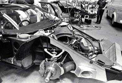 24 Hours of LeMans, LeMans, France, 1966. Ford Racing Garage. CD#0554-3252-3670-25.