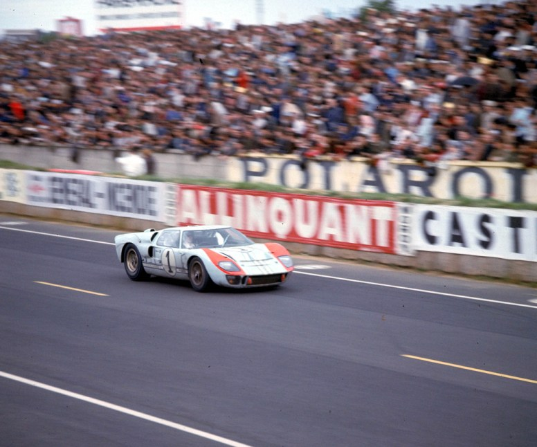 24 Hours of LeMans, LeMans, France, 1966. Second place finishing Shelby American Ford Mark II of Ken Miles/Denis Hulme. CD#0777-3292-0630-27.