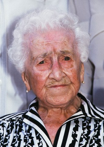 picture of Jeanne Calment aged 113