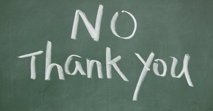 Stop Saying Thank You!