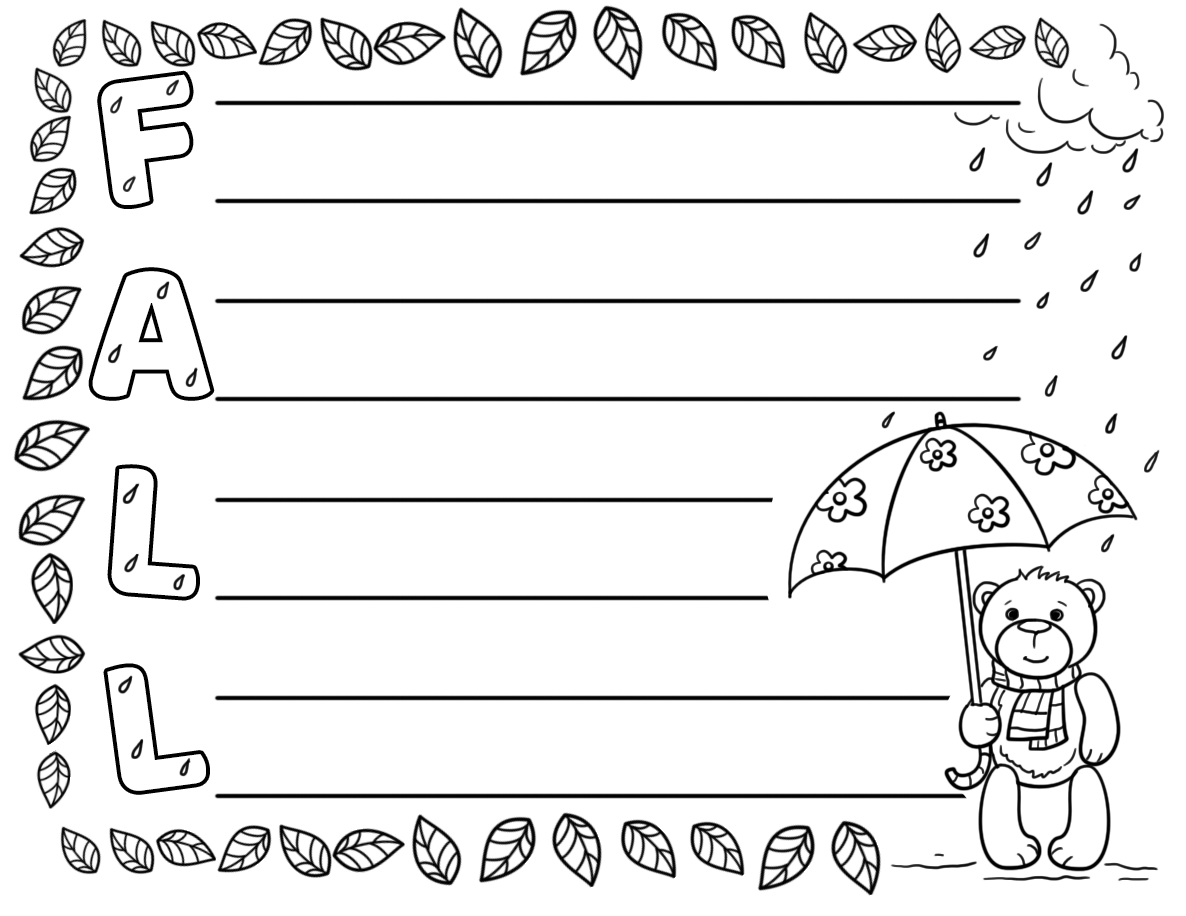Fall Acrostic Poem Template
