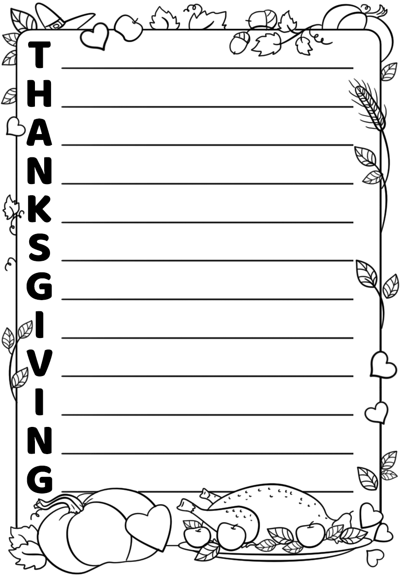 Thanksgiving Acrostic Poem Template Free Printable
