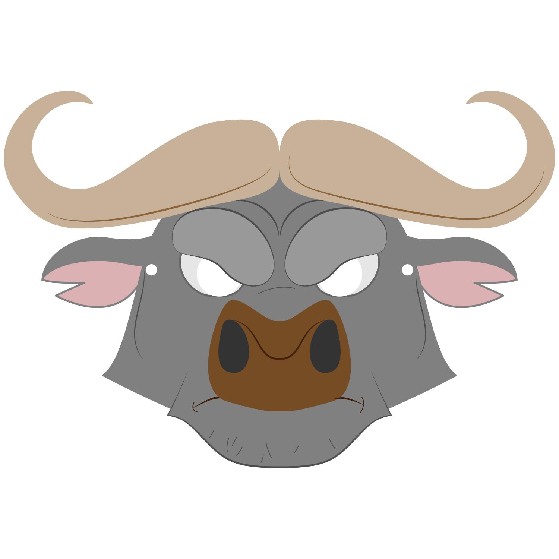 Buffalo Mask Template