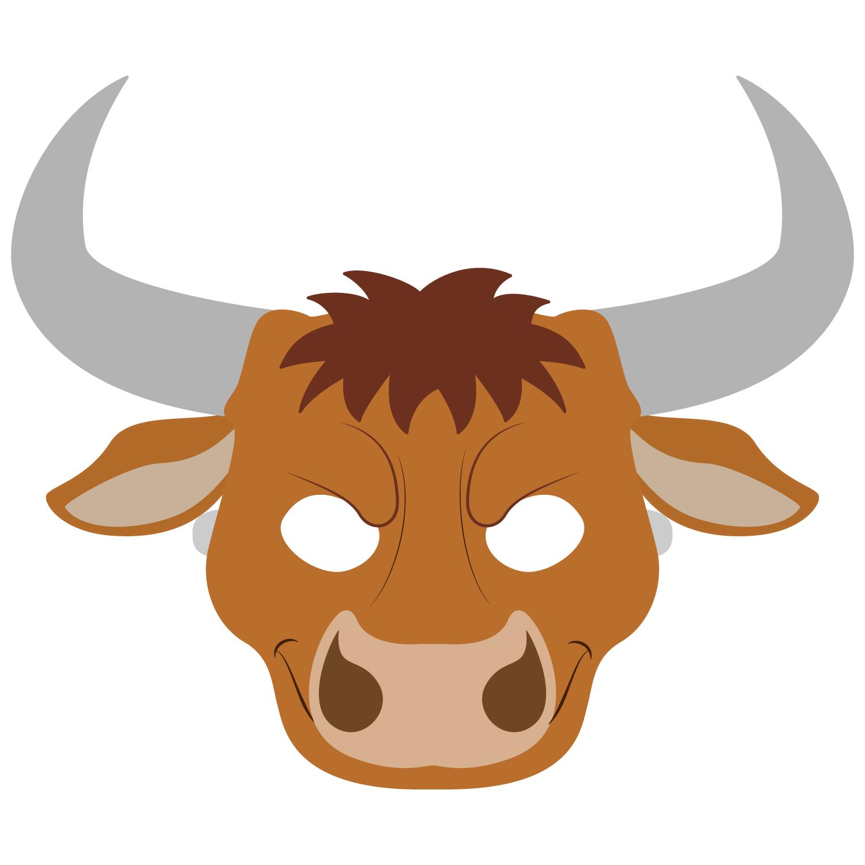 Bull Mask Template