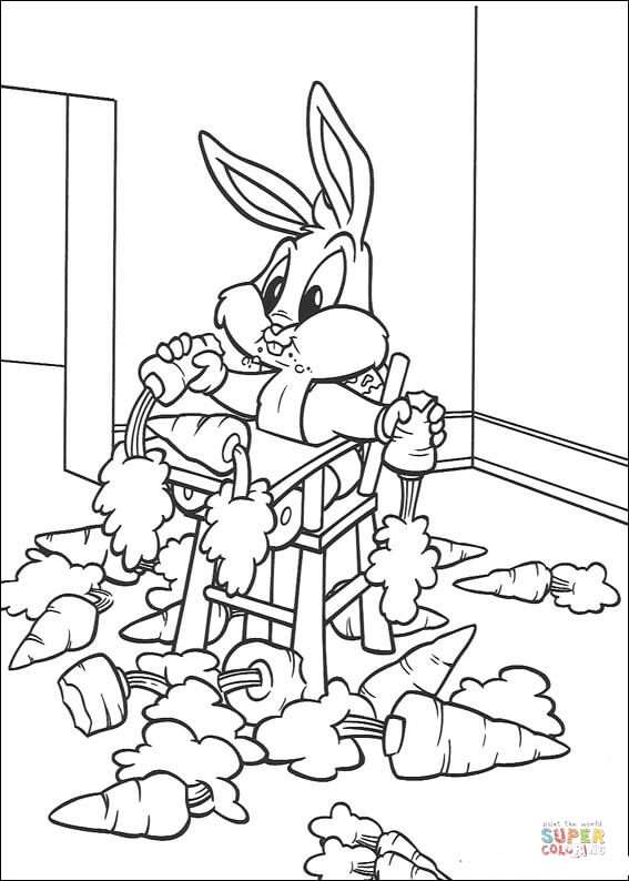 baby bugs bunny coloring page free printable coloring pages