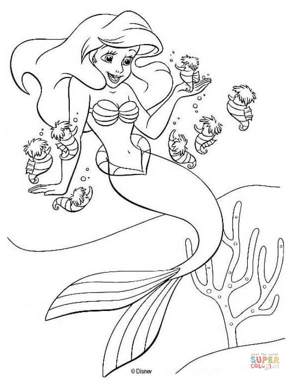 free mermaid coloring pages # 18