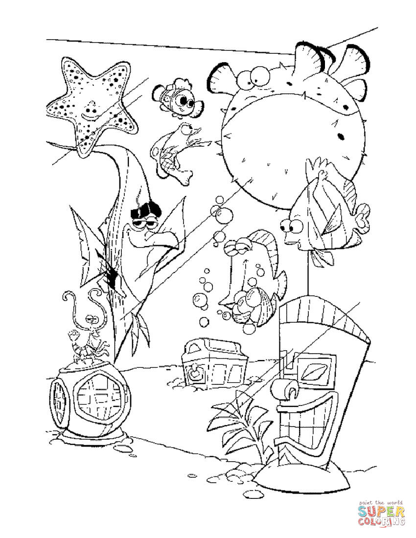 Fish In The Tank Coloring Page Free Printable Coloring Pages