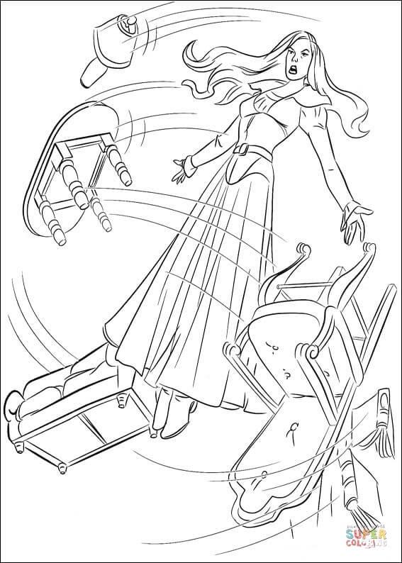 Dibujo De Jean Grey Y Su Poder De Telequinesis En Accin