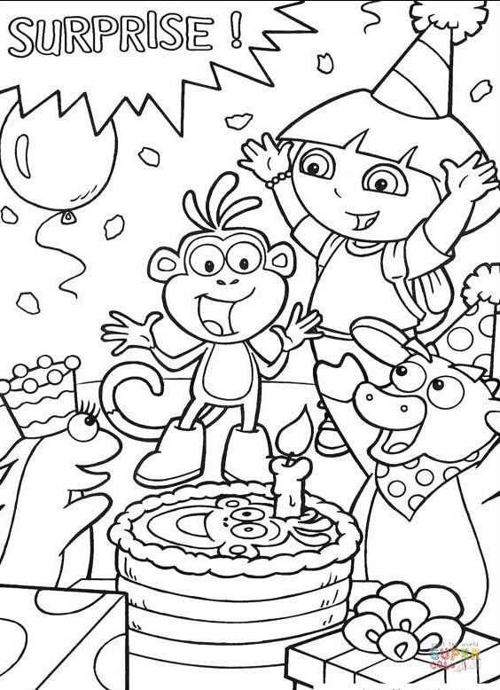 Dora The Explorer Coloring Pages Free Coloring Pages