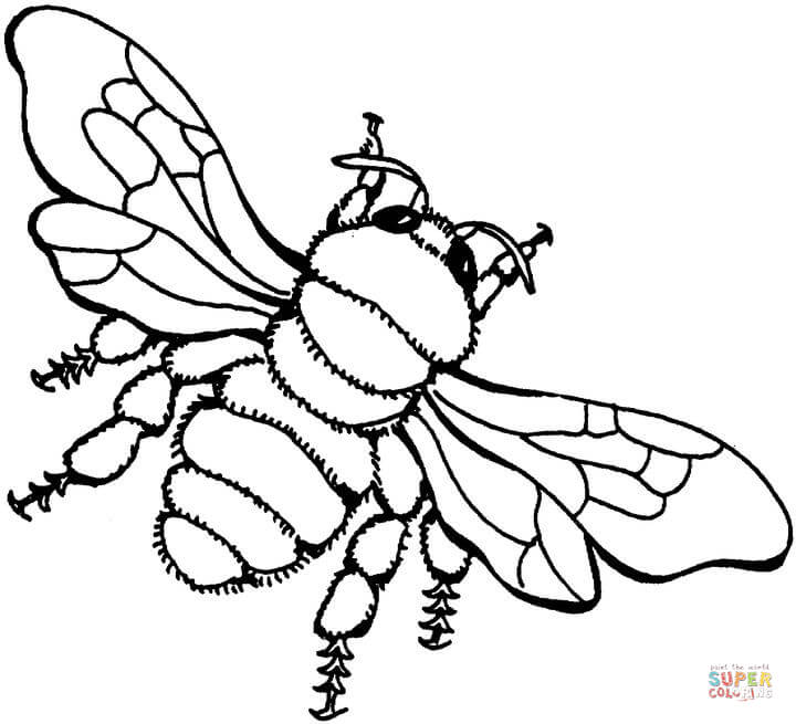click the bee 3 coloring page to view printable version or color it