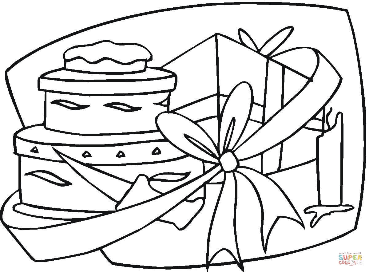 Happy Birthday T Coloring Page