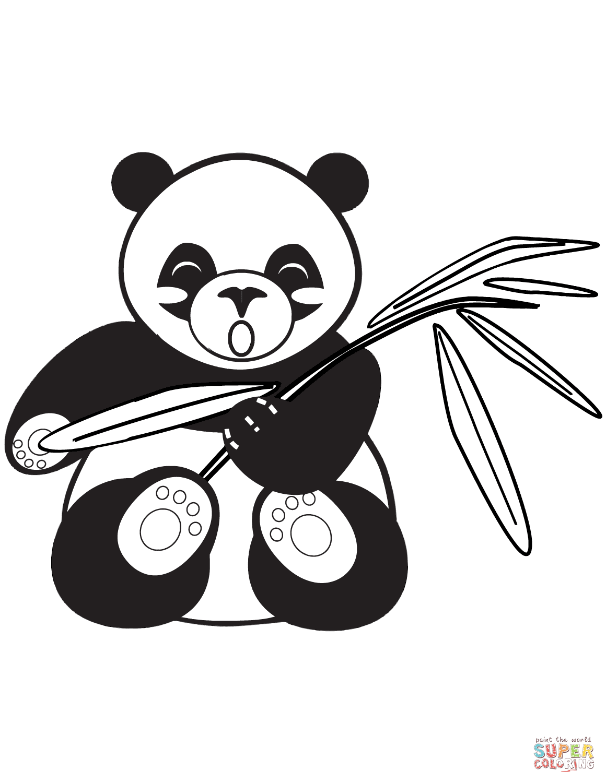 Ausmalbild Gehender Panda