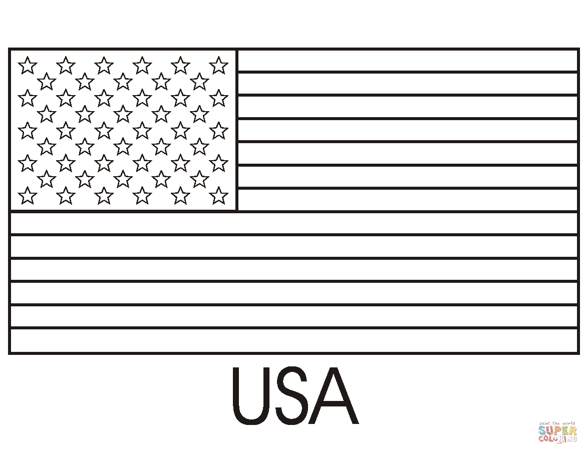 Flag Of The United States Of America Coloring Page