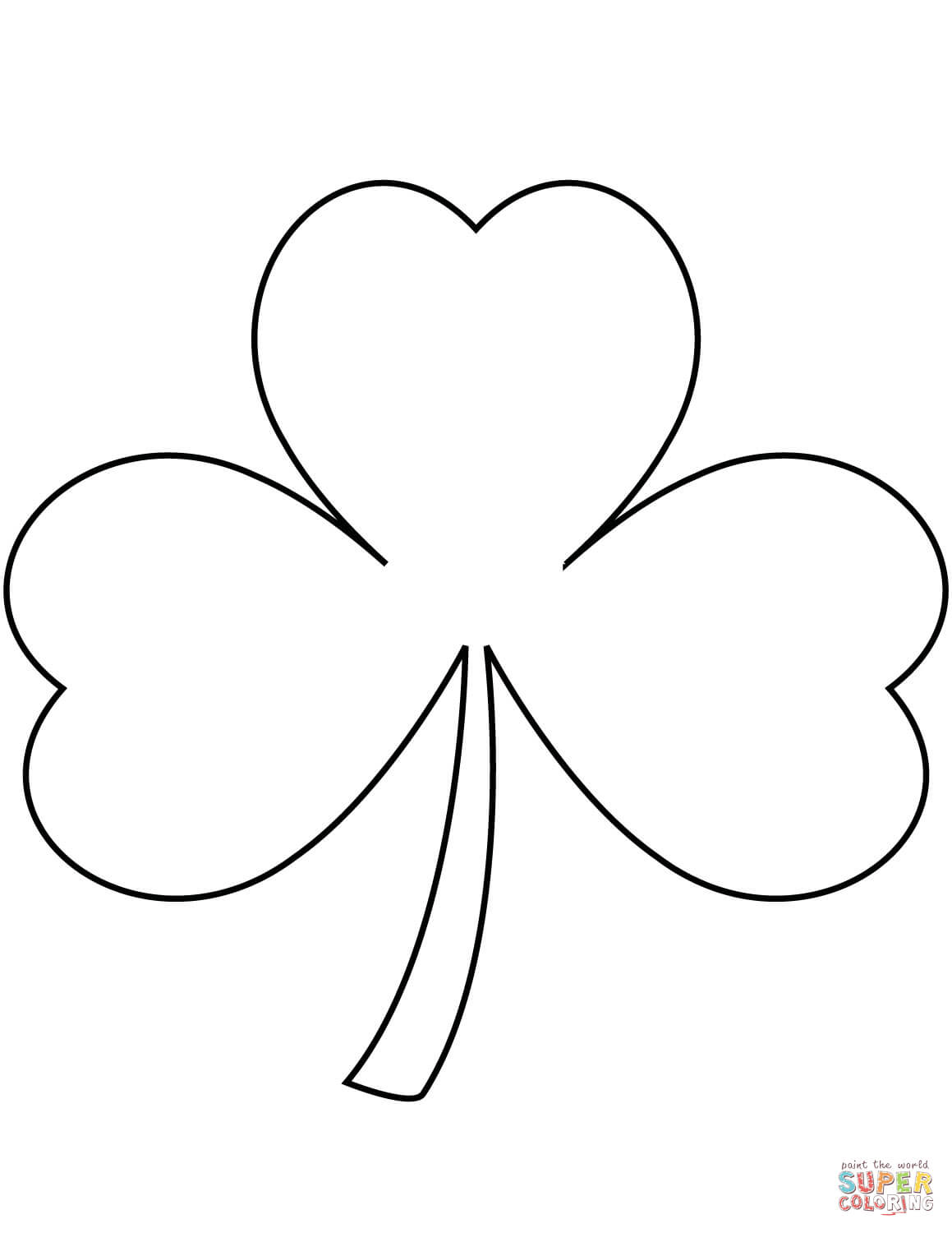 shamrock coloring pages finnegan coloring page of a shamrock