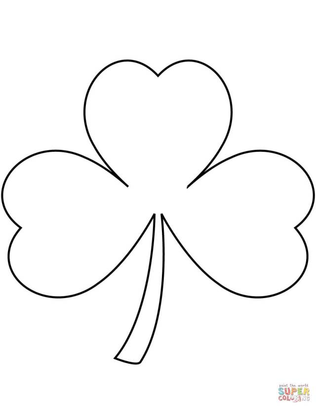 Shamrock coloring page  Free Printable Coloring Pages