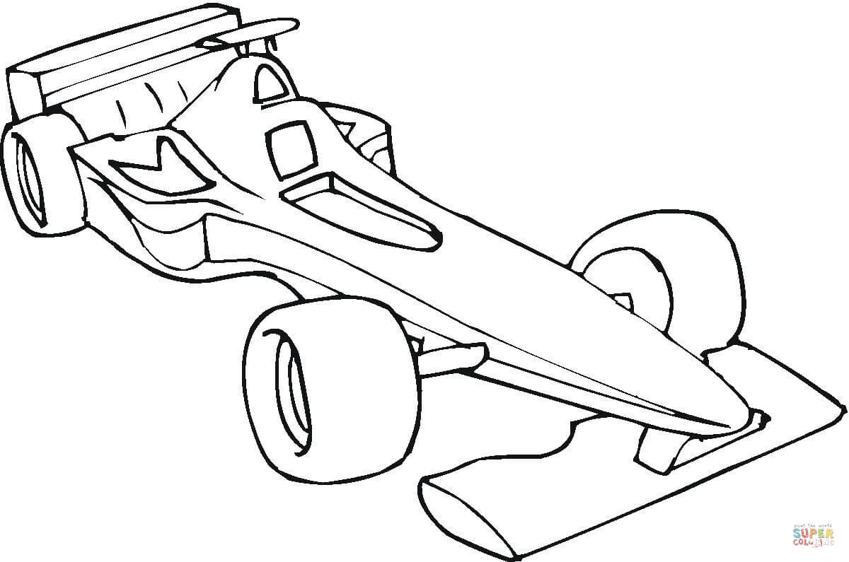 Formule 1 Auto Kleurplaat