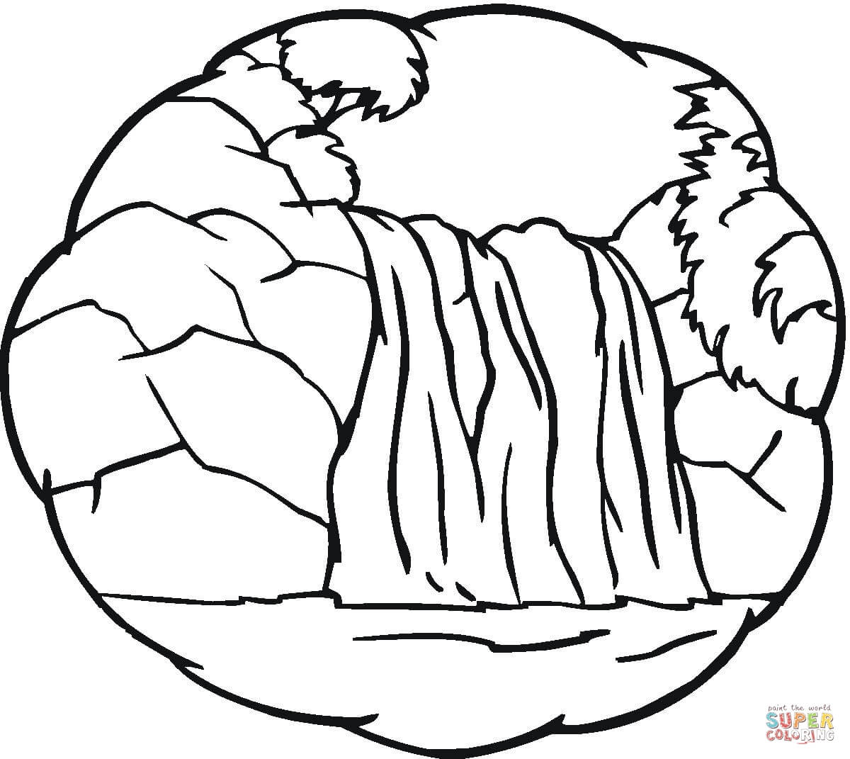 Little Waterfall Coloring Page
