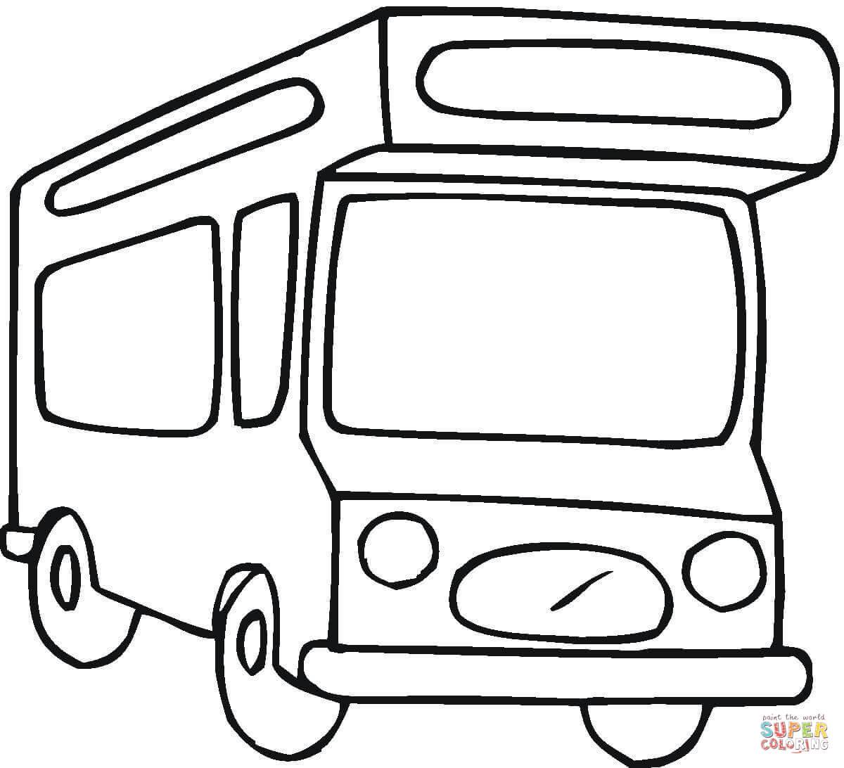 Camper Van Coloring Page