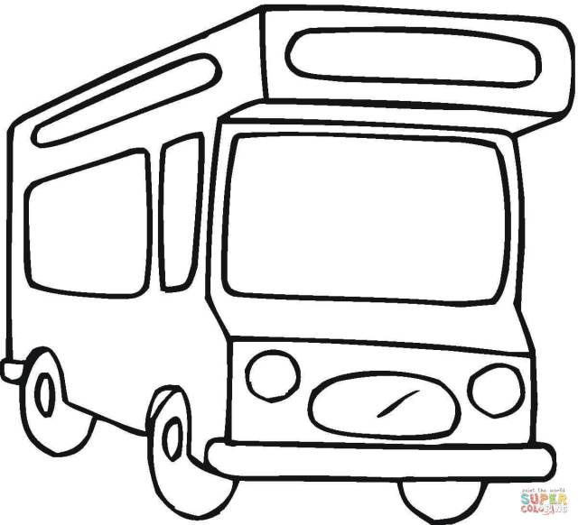 Camper Van coloring page  Free Printable Coloring Pages
