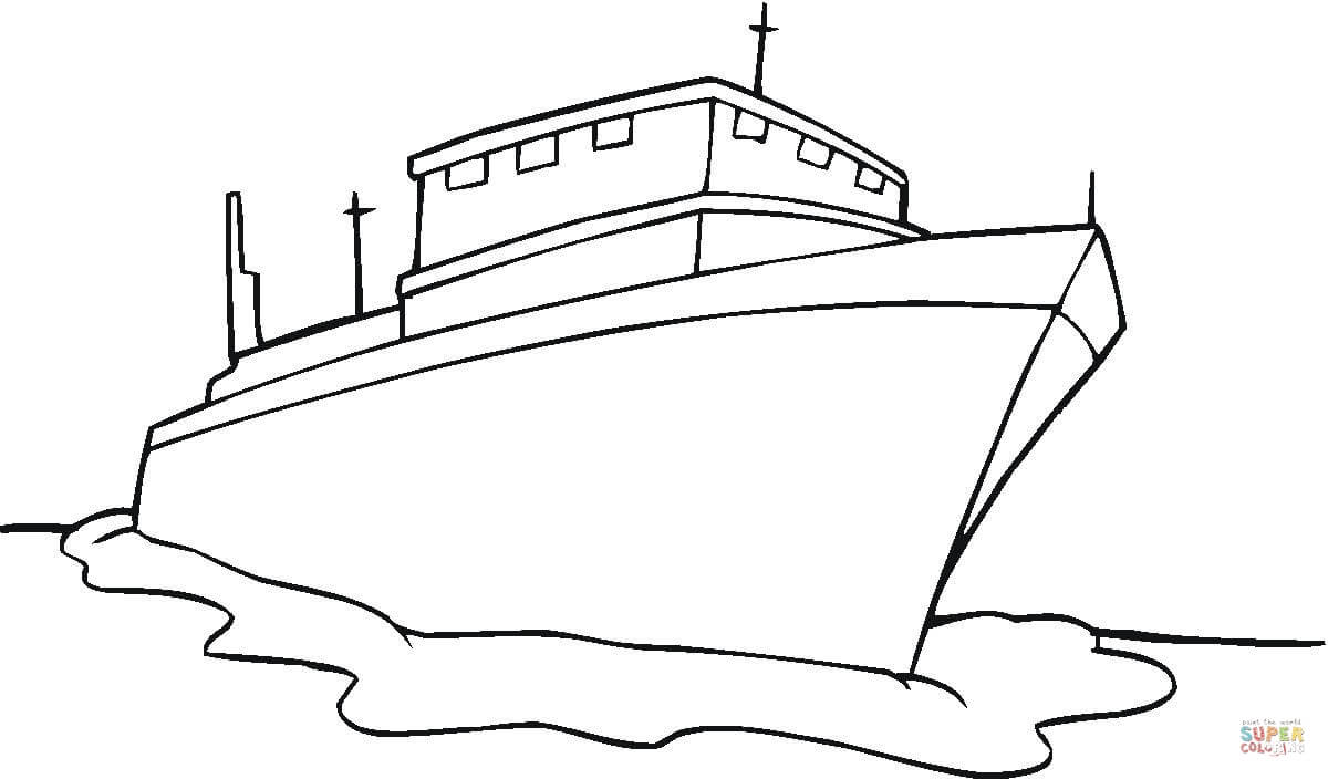 Ship Coloring Page Free Printable Coloring Pages