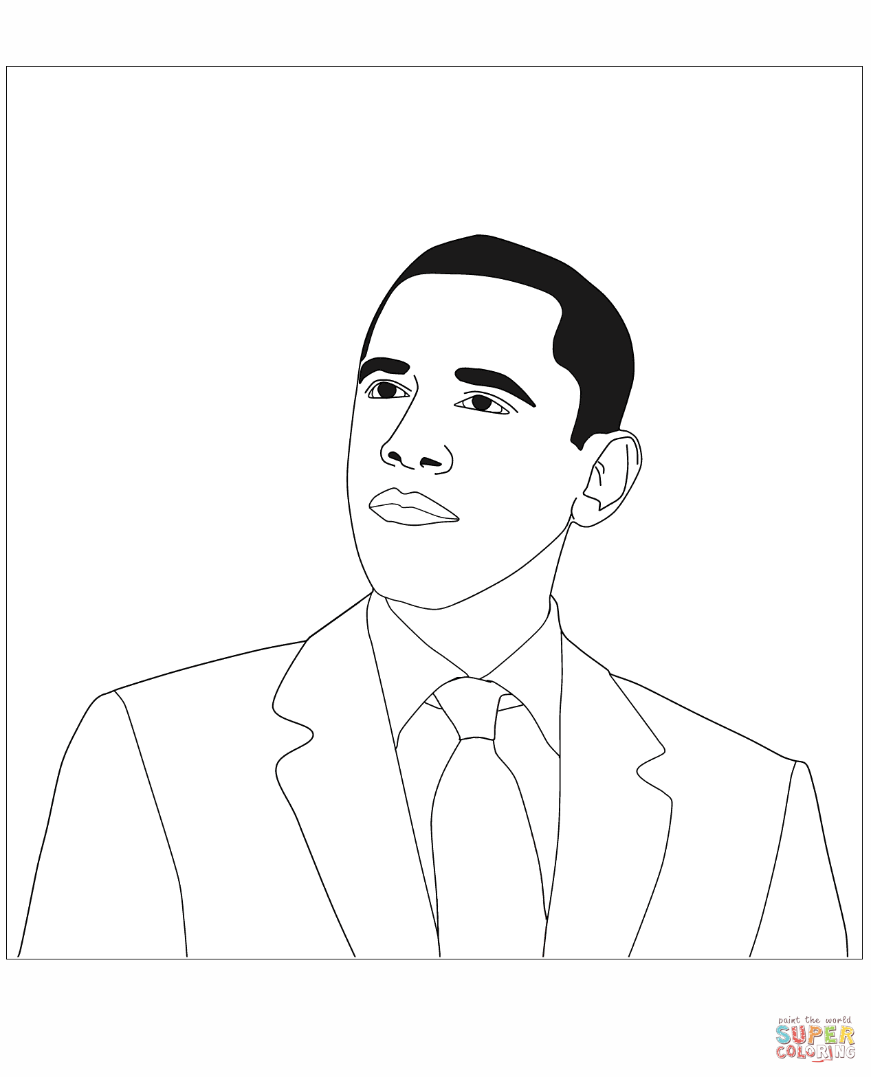 President Trump Page Coloring Pages