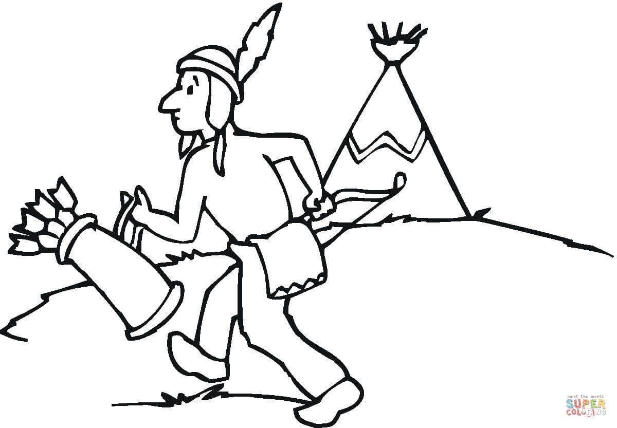 Wigwam Coloring Page Free Printable Coloring Pages