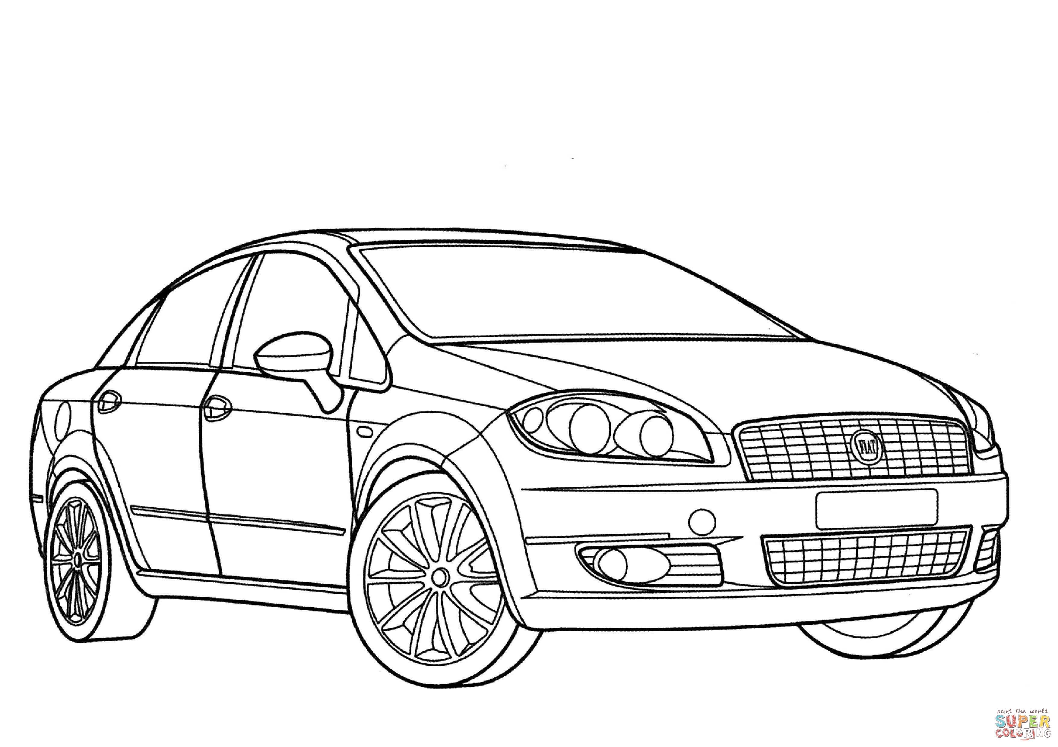 Disegno Di Fiat Grande Punto Da Colorare