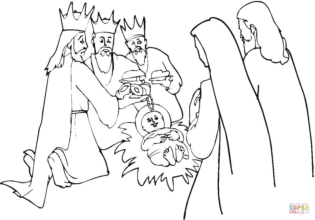 Ts From Wise Men Coloring Page