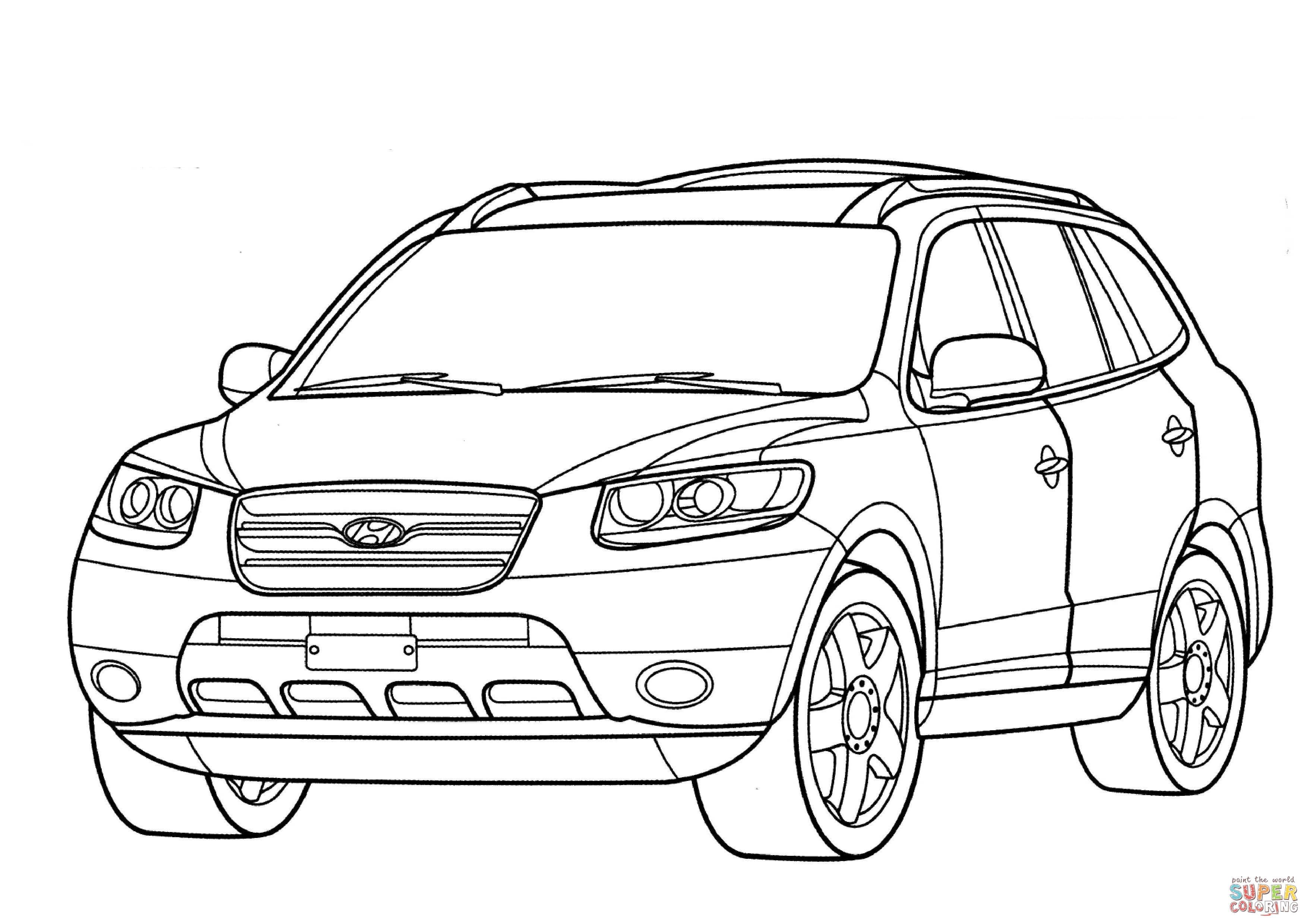 Dibujo De Hyundai Santa Fe Para Colorear