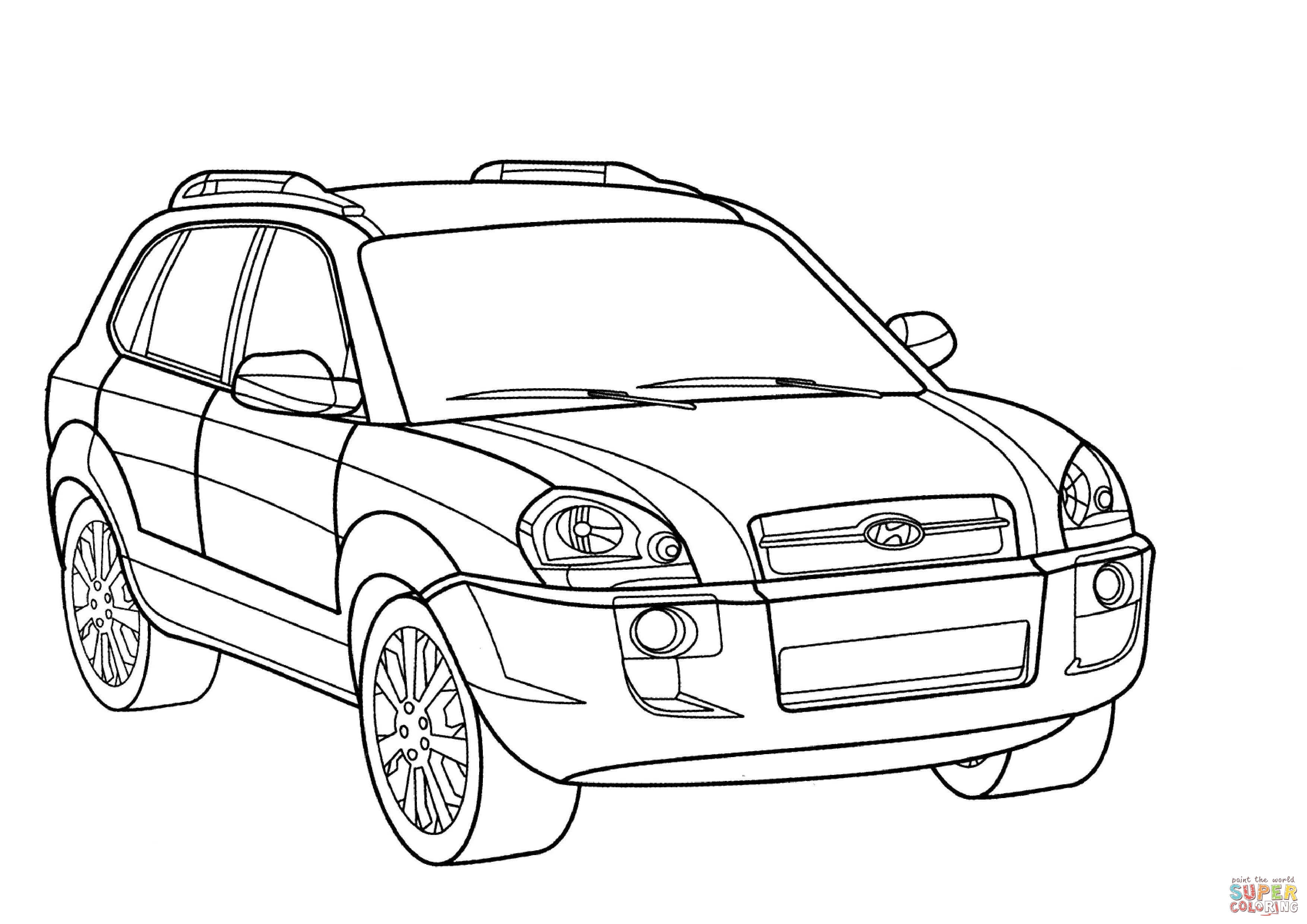 Hyundai Tucson Coloring Page