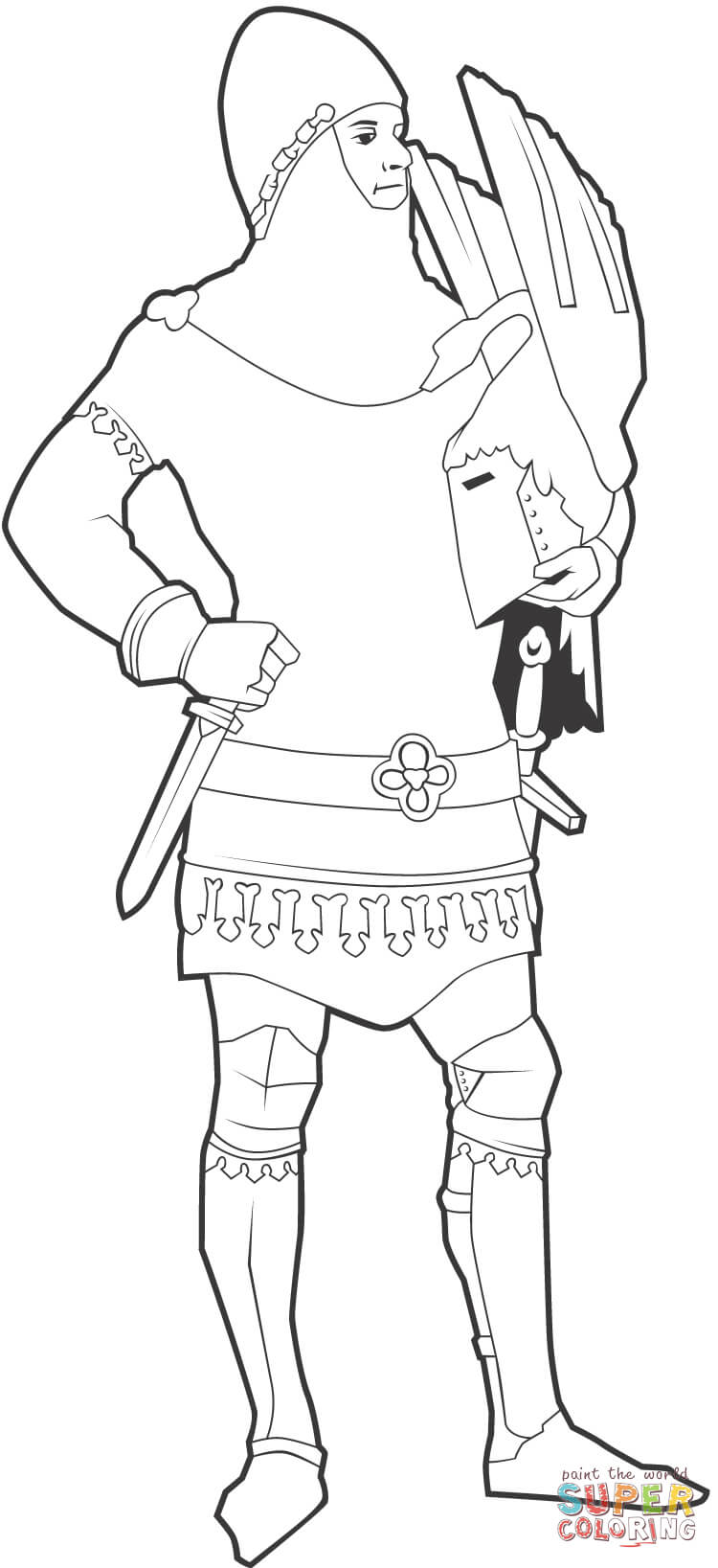 knight of england coloring page  free printable coloring