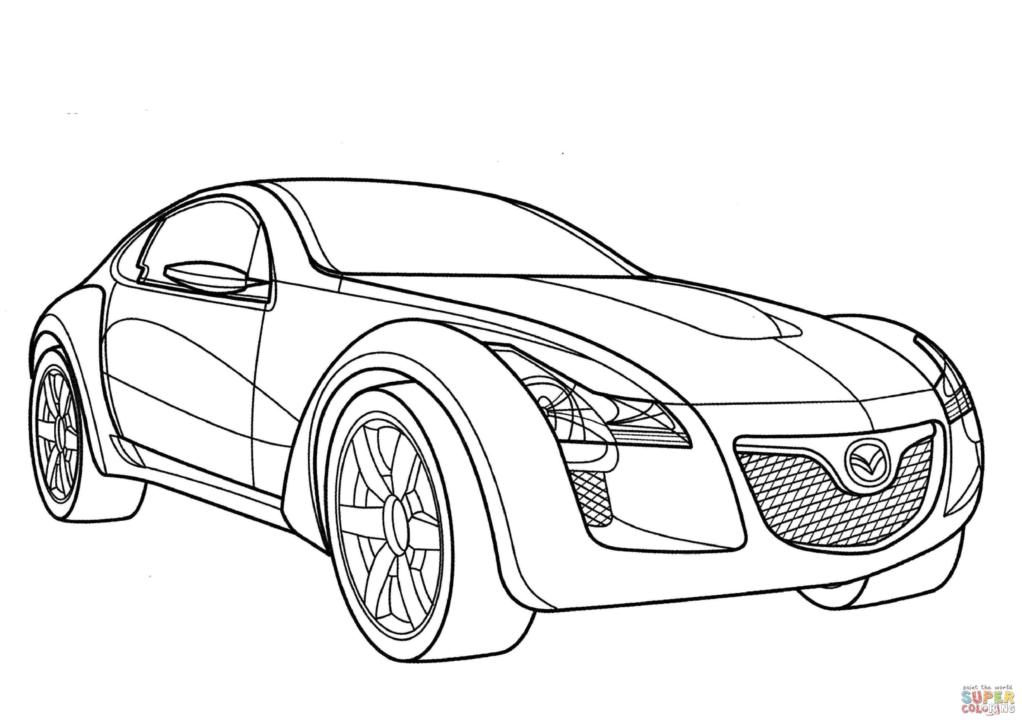 Mazda Kabura Coloring Page