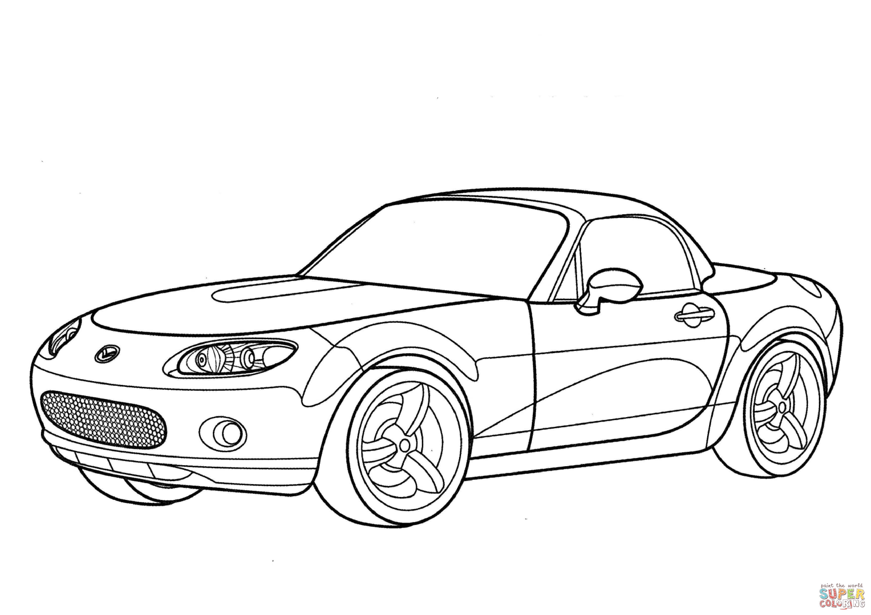 Mazda Mx 5 Coloring Page