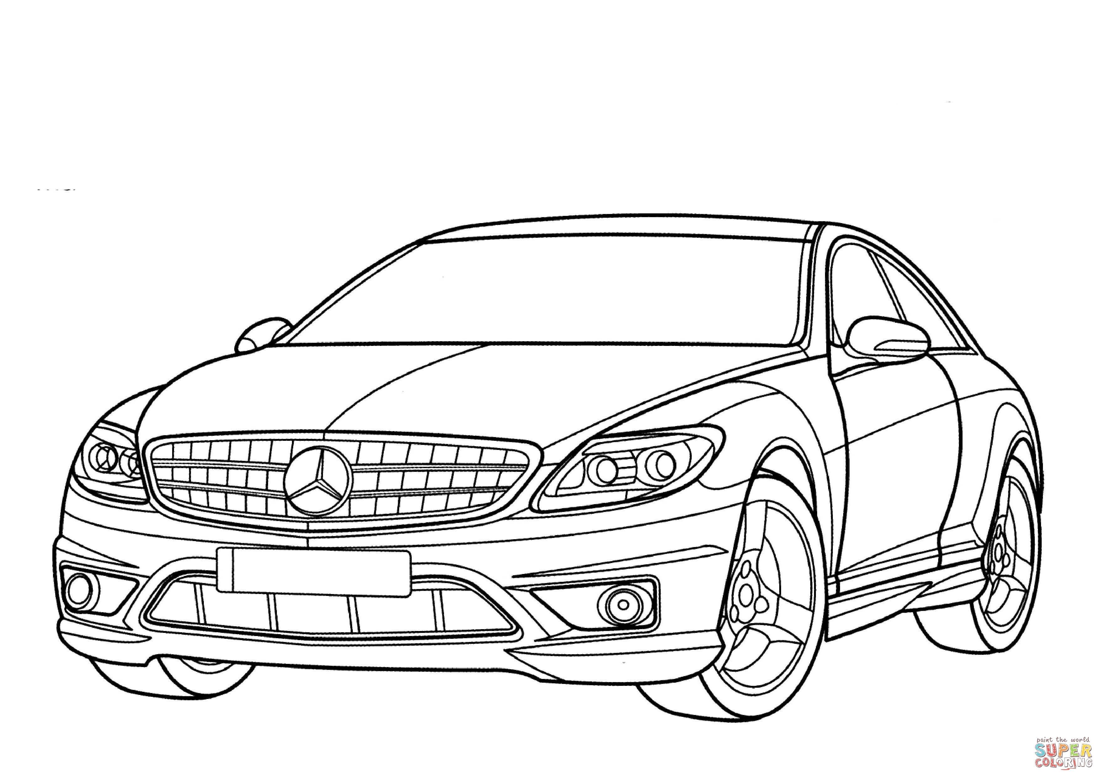 Disegno Di Mercedes Benz Classe Cl Da Colorare