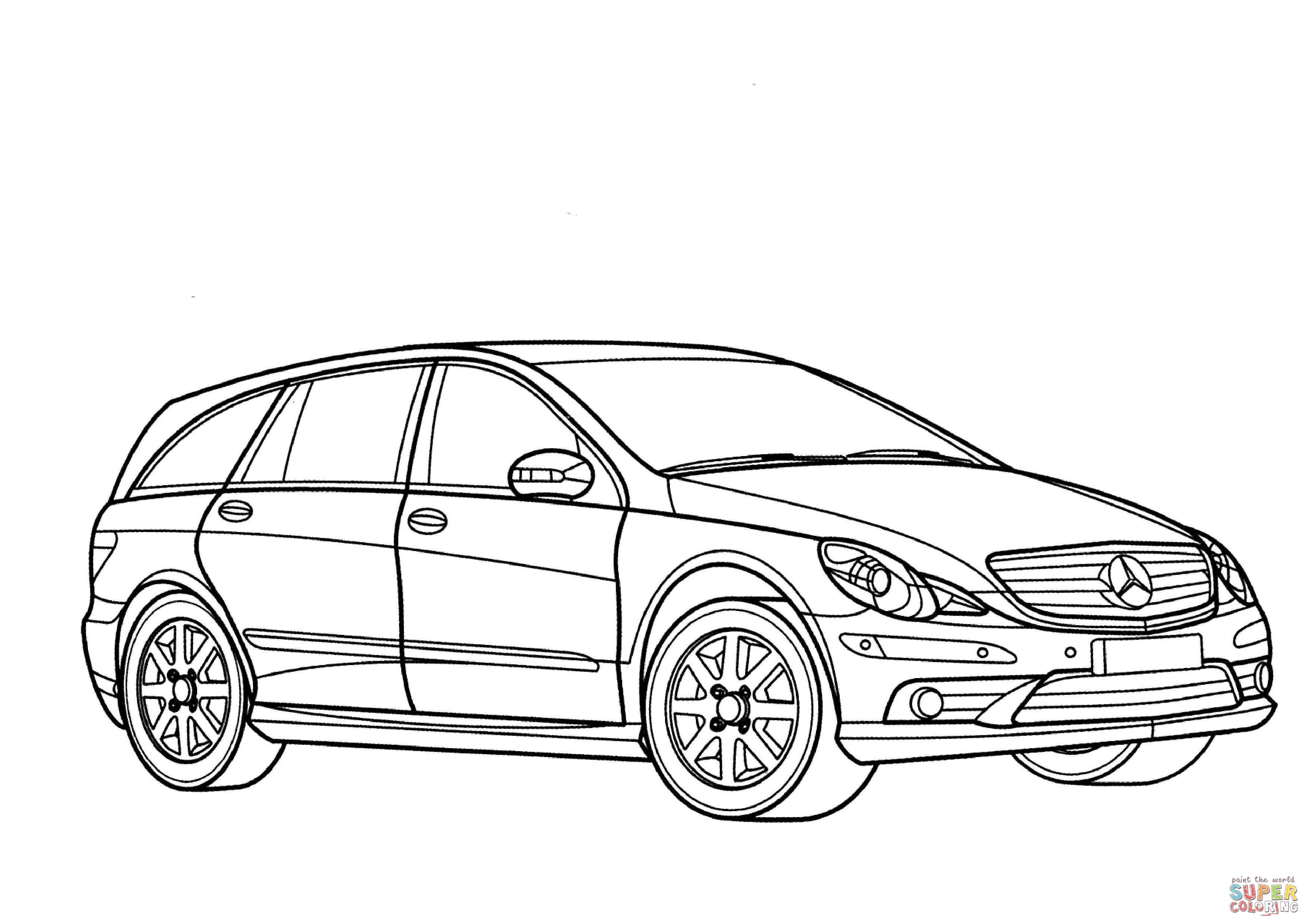 Ausmalbild Mercedes Benz R Klasse