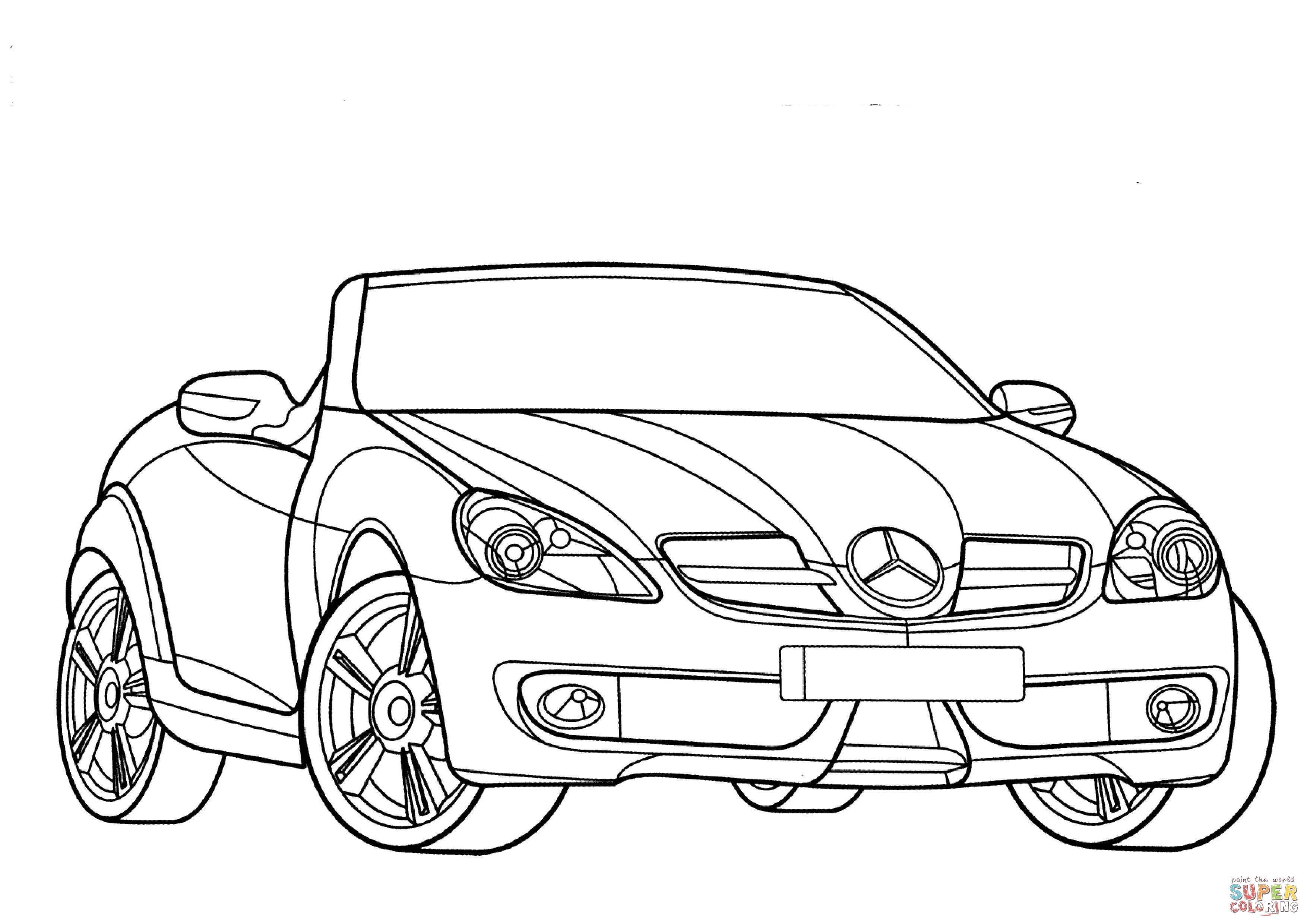 Disegno Di Mercedes Benz Classe Slk Da Colorare