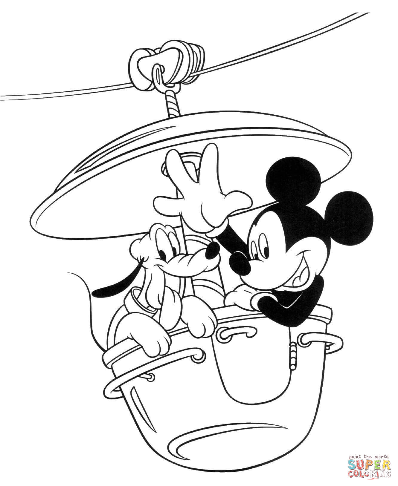 Mickey Mouse Coloring Pages Free Coloring Pages