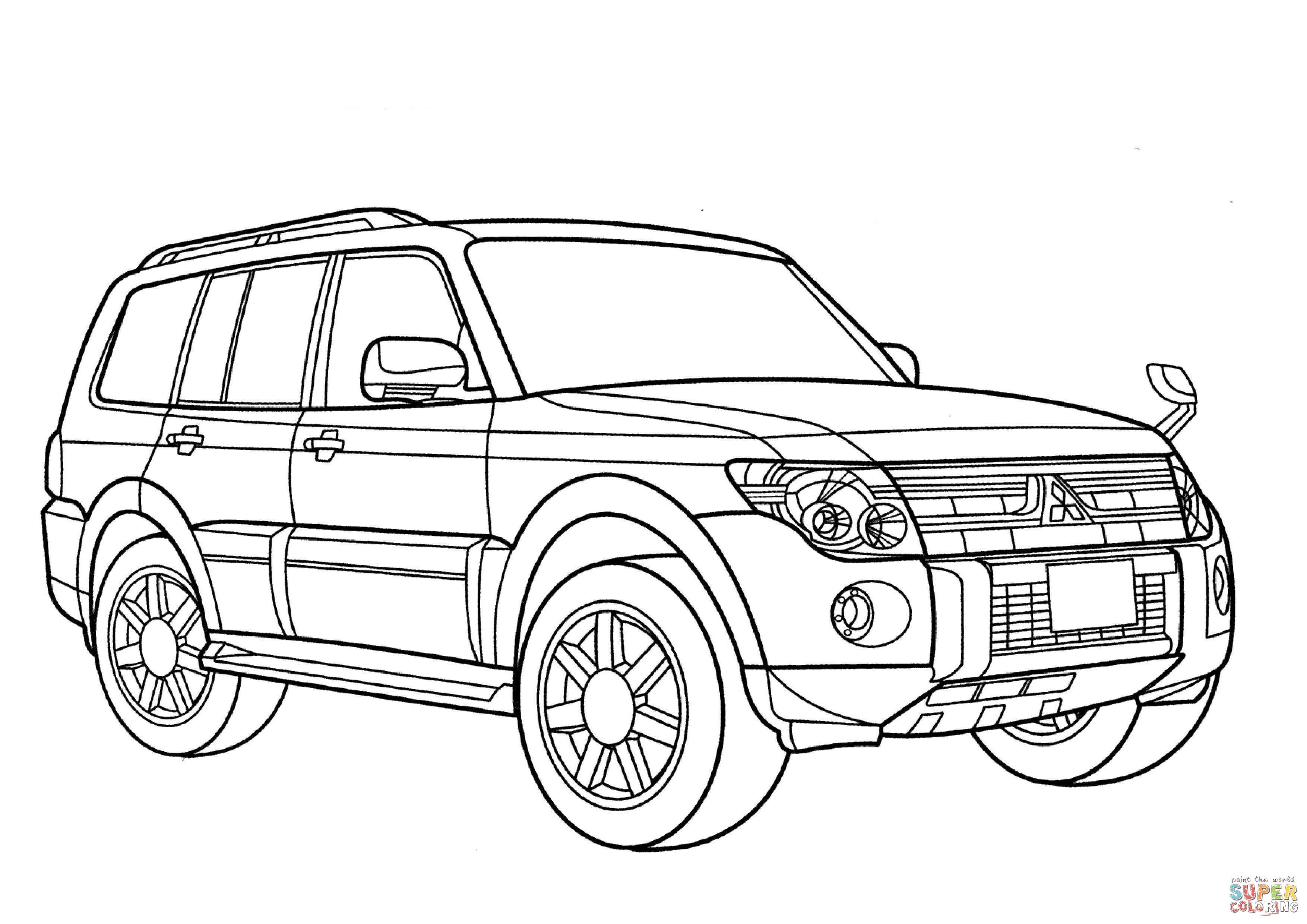 Mitsubishi Pajero Coloring Page