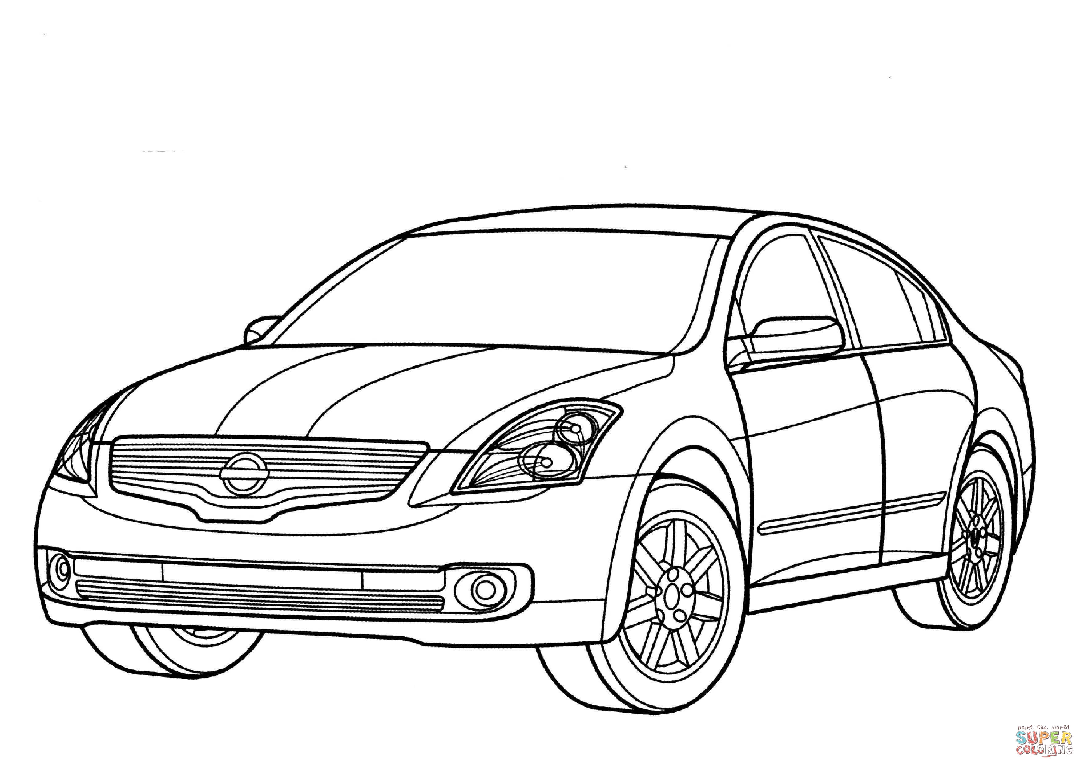 Nissan Altima Hybrid Coloring Page