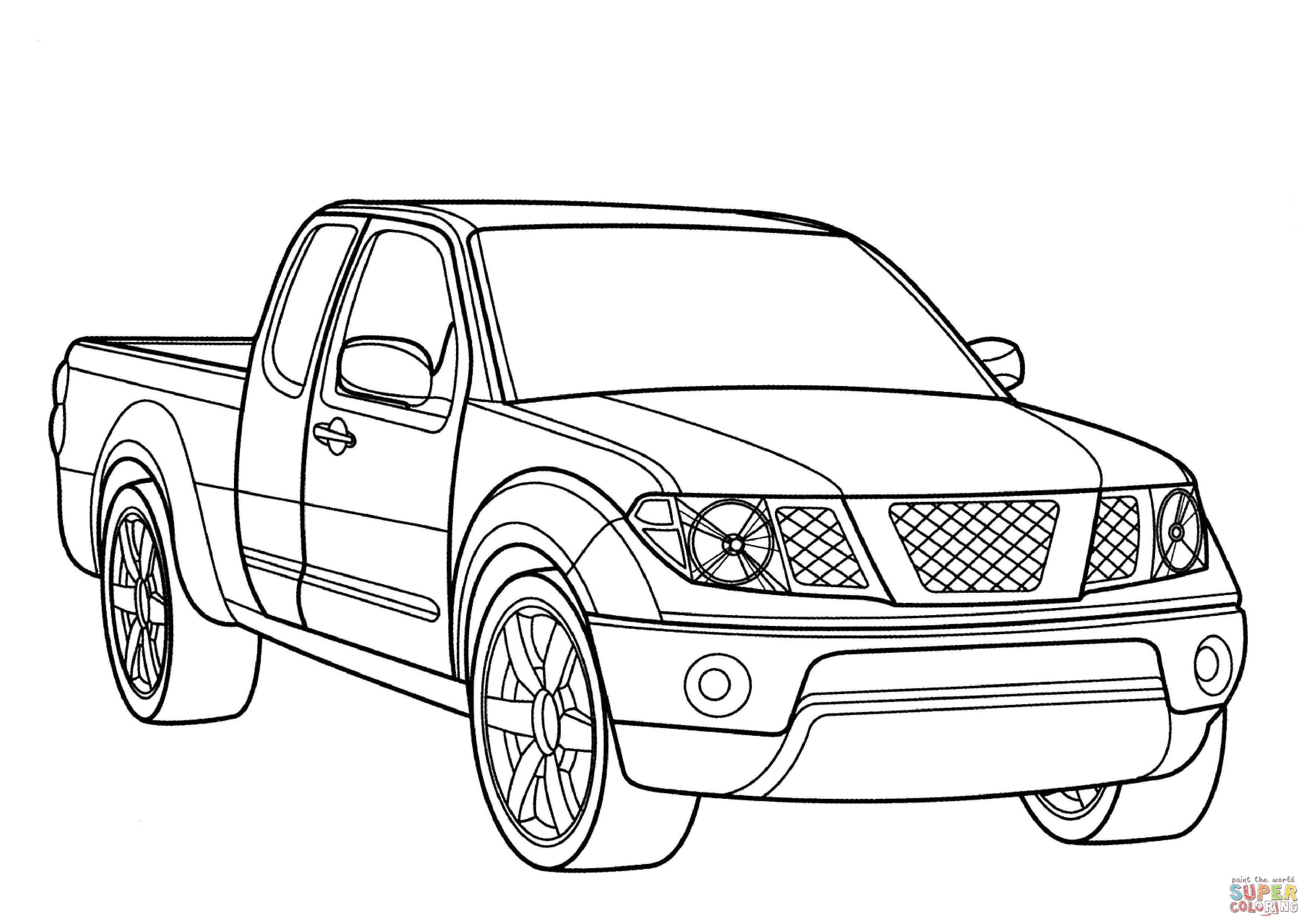 Nissan Frontier Coloring Page