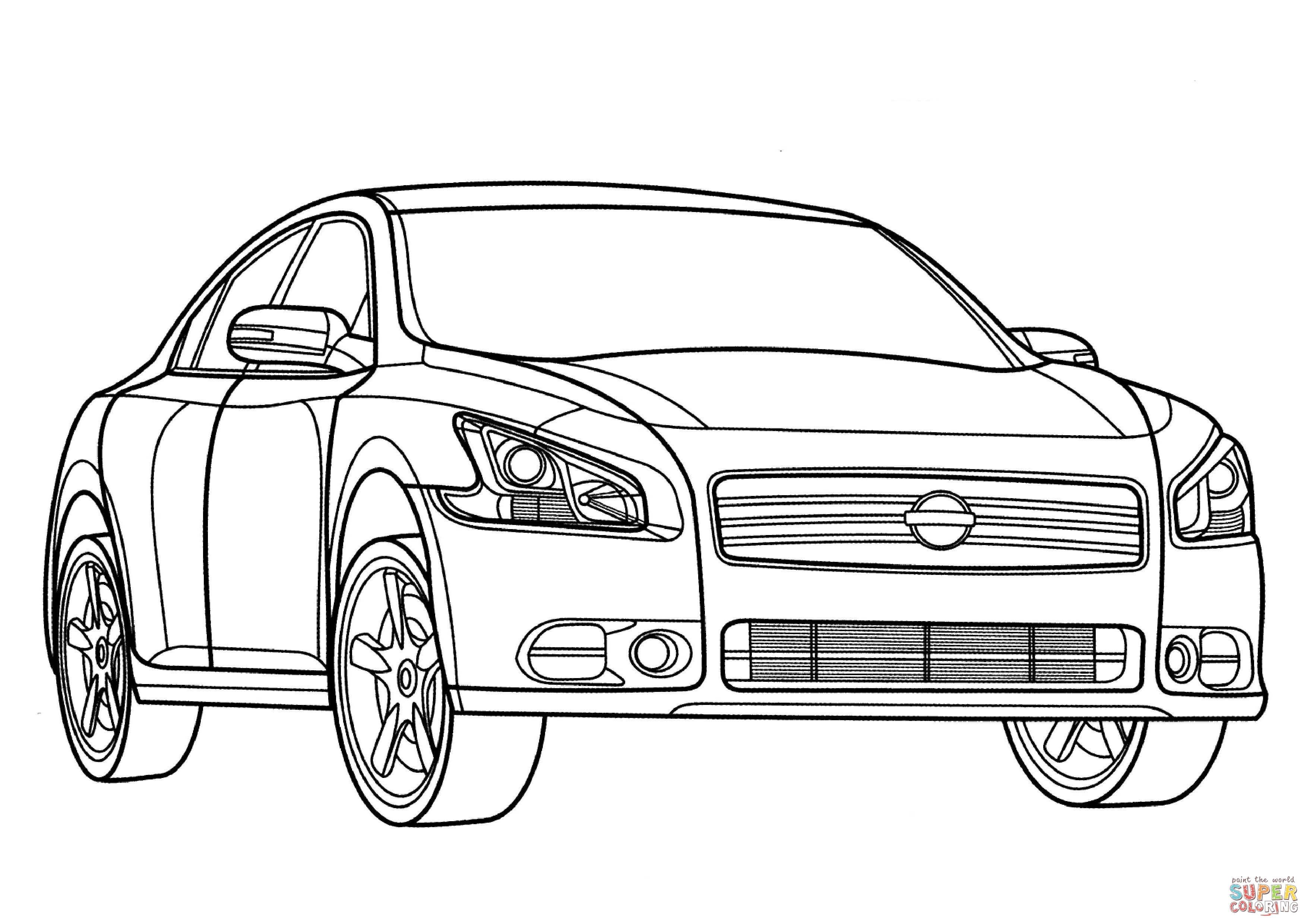 Dibujo De Nissan Maxima Para Colorear