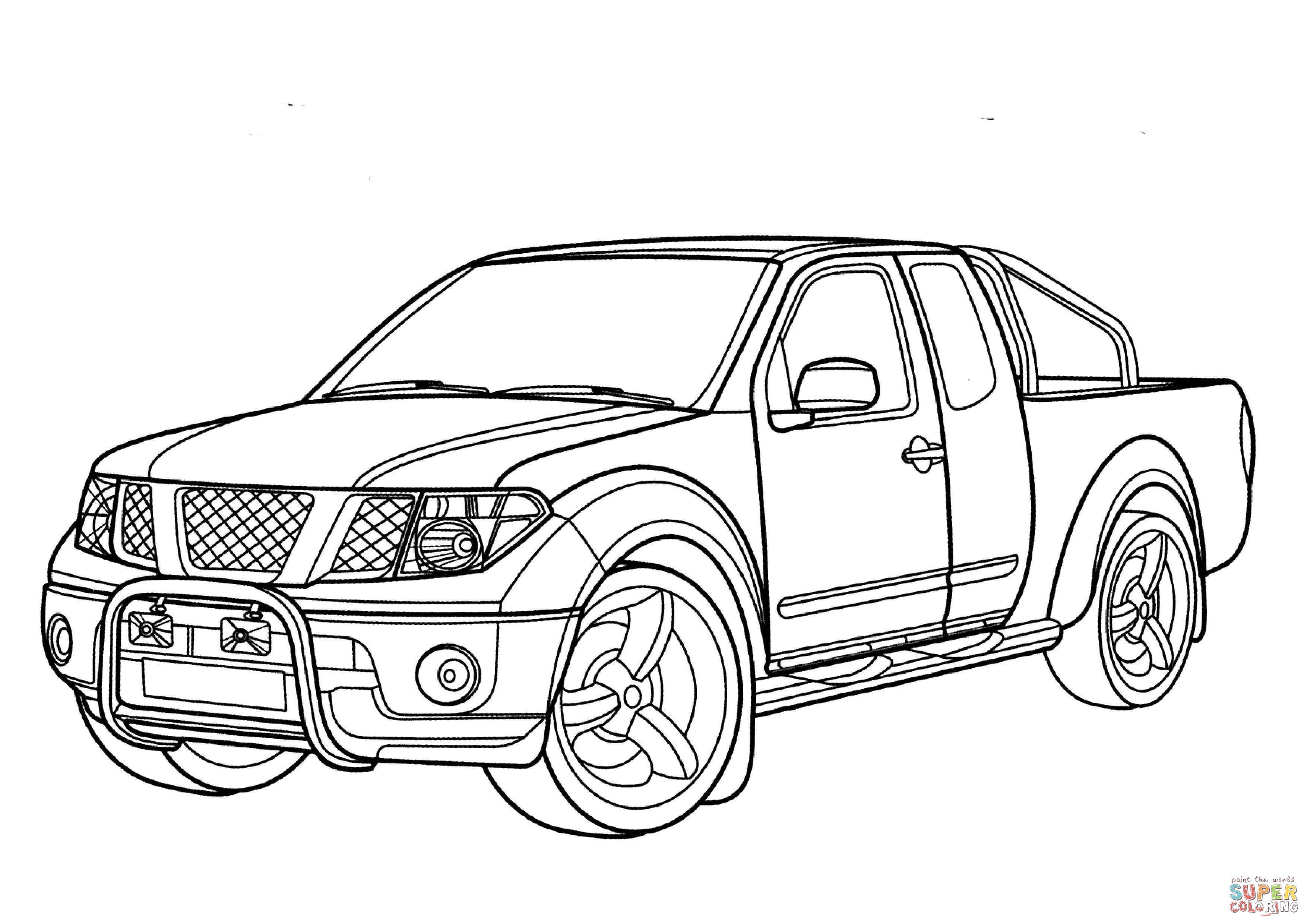 Dibujo De Nissan Navara Para Colorear
